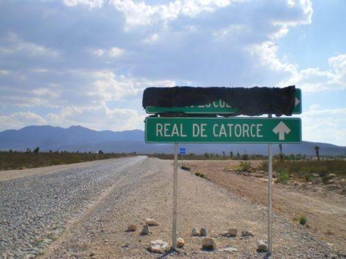 レアルデカトルセに向かう途中の景色